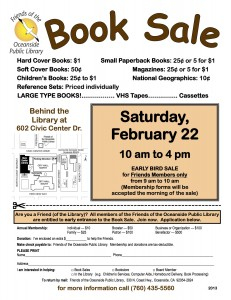 2-22-14 Book Sale Flyer