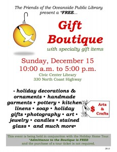 Gift Boutique 2013 Flyer