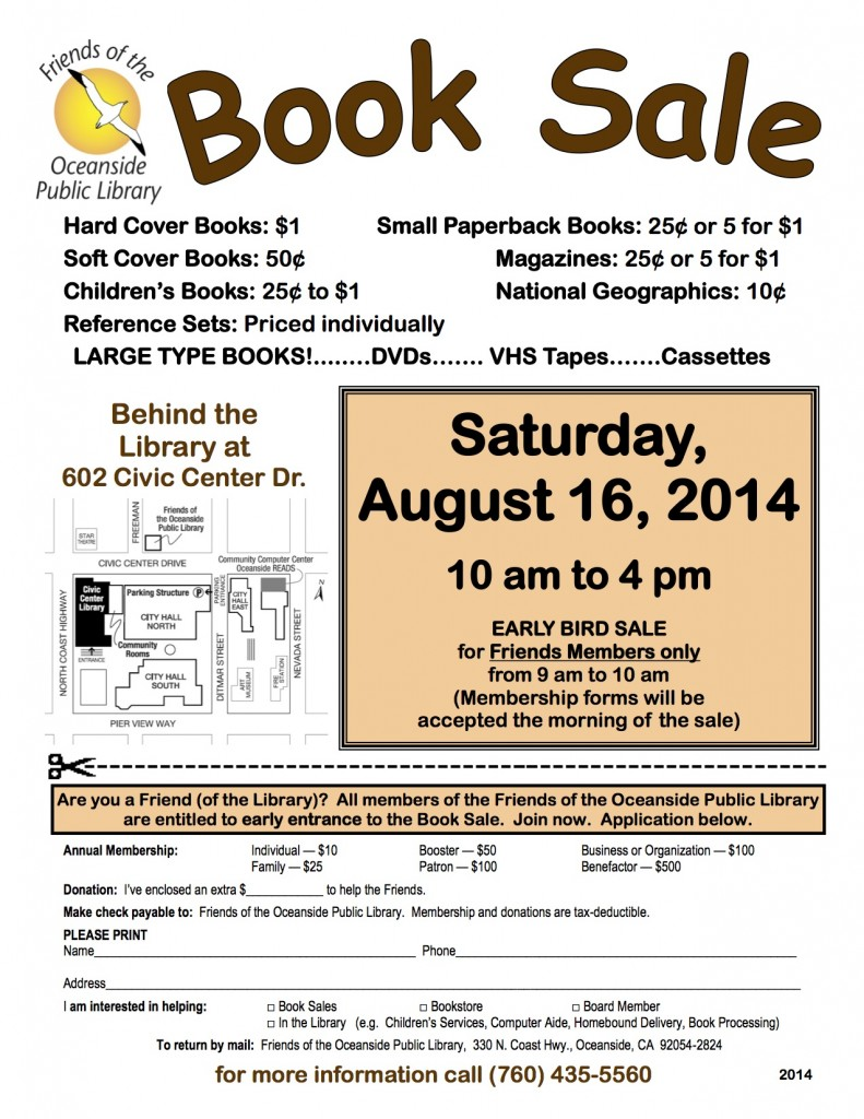 8/16/2014 Book Sale Flyer