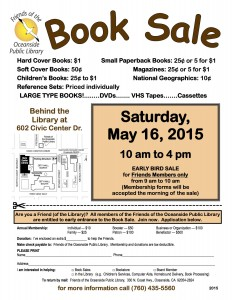 May 2015 Book Sale Flyer
